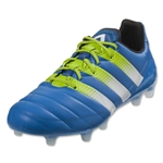 adidas Ace 16.1 FG/AG Leather (Shock Blue/Semi Solar Slime)
