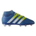 adidas Ace 16+ Primeknit FG/AG Junior (Shock Blue/Semi Solar Slime)