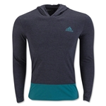 adidas Go-To Performance Hoody T-Shirt (Grey/Green)