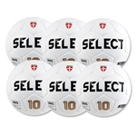Select Numero 10 NFHS Ball 6 Pack (White)