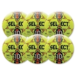Select Numero 10 NFHS Ball 6 Pack (Yellow)