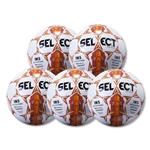 Select Royale 2016 Game Ball 5 Pack (White/Orange)