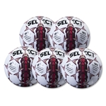 Select Royale Game Ball 5 Pack (White/Maroon)