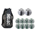 Select Numero Ball 10 Pack (White w/ Forest Green)