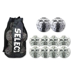Select Numero Ball 10 Pack (White/Gold)
