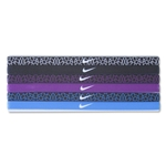 Nike Printed Headbands Assorted Headband Six Pack (Black)