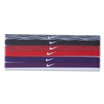 Nike Printed Headbands Assorted Six Pack (Black/Red)