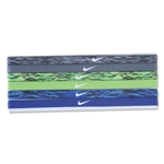 Nike Printed Headbands Assorted Six Pack (Gray)
