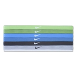 Nike Printed Headbands Assorted Six Pack (White)