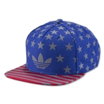 adidas Originals Americana Snapback Structured Cap (Royal Blue)