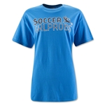 SGP I Can't I Have Football Women's T-Shirt (Blue)