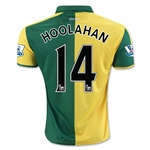 Norwich City 15/16 HOOLAHAN Home Soccer Jersey