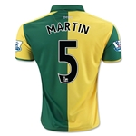 Norwich City 15/16 MARTIN Home Soccer Jersey