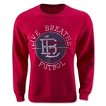 Live Breathe Futbol Pitch Invader Sweater (Red)