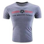 Live Breathe Futbol Logo Tee (Gray)
