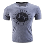 Live Breathe Futbol Skull T-Shirt (Gray)