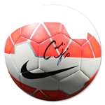 Carli Lloyd Signed Red & White Nike Soccer Ball (PSA)