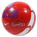 Christie Rampone Signed Red Team USA Supporter Soccer Ball