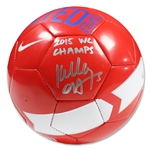 Kelley O'Hara Signed Red Team USA Supporter Soccer Ball