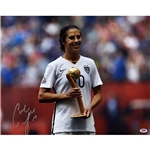 Carli Lloyd Signed 2015 World Cup Medal 16x20 Photo
