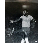 Pele B/W Hand Extended Signed 16x20 Photo