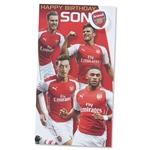 Arsenal Happy Birthday Son Card