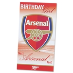 Arsenal Happy Birthday Girl Card