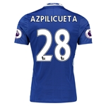 Chelsea 16/17 28 AZPILICUETA Authentic Home Soccer Jersey