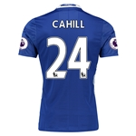 Chelsea 16/17 24 CAHILL Authentic Home Soccer Jersey