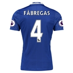 Chelsea 16/17  4 FABREGAS Authentic Home Soccer Jersey