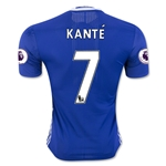 Chelsea 16/17 KANTE Authentic Home Soccer Jersey