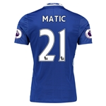 Chelsea 16/17 21 MATIC Authentic Home Soccer Jersey