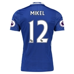Chelsea 16/17 12 MIKEL Authentic Home Soccer Jersey