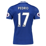 Chelsea 16/17 17 PEDRO Authentic Home Soccer Jersey