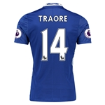 Chelsea 16/17 14 TRAORE Authentic Home Soccer Jersey
