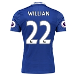 Chelsea 16/17 22 WILLIAN Authentic Home Soccer Jersey