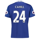 Chelsea 16/17 24 CAHILL Home Soccer Jersey