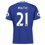 Chelsea 16/17 21 MATIC Home Soccer Jersey