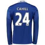 Chelsea 16/17 24 CAHILL LS Home Soccer Jersey