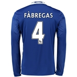 Chelsea 16/17  4 FABREGAS LS Home Soccer Jersey