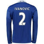 Chelsea 16/17  2 IVANOVIC LS Home Soccer Jersey