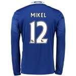 Chelsea 16/17 12 MIKEL LS Home Soccer Jersey
