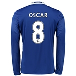 Chelsea 16/17  8 OSCAR LS Home Soccer Jersey