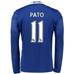 Chelsea 16/17 11 PATO LS Home Soccer Jersey