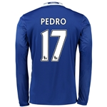 Chelsea 16/17 17 PEDRO LS Home Soccer Jersey