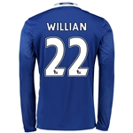 Chelsea 16/17 22 WILLIAN LS Home Soccer Jersey