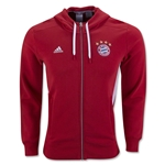 Bayern Munich 3-Stripe Zip Hoody