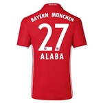 Bayern Munich 16/17 ALABA Authentic Home Soccer Jersey
