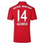 Bayern Munich 16/17 ALONSO Authentic Home Soccer Jersey