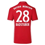 Bayern Munich 16/17 BADSTUBER Authentic Home Soccer Jersey